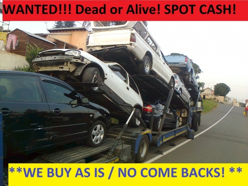 Cash paid for accident damaged and non running vehicles anywhere in Gauteng