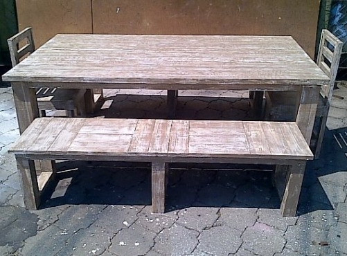 Patio table Chunky Cottage series 2000 Combo 2 Glazed