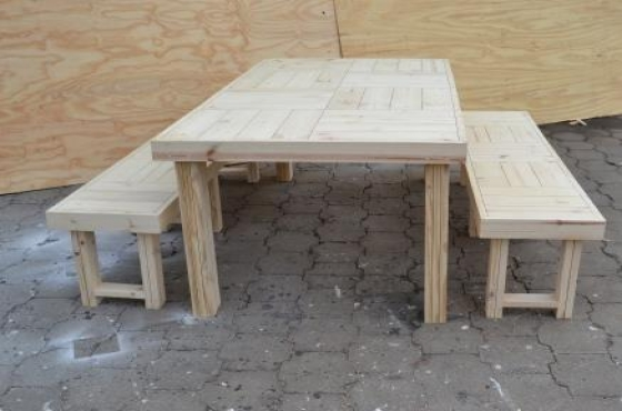 Patio table Farmhouse series 2000 Combo Raw