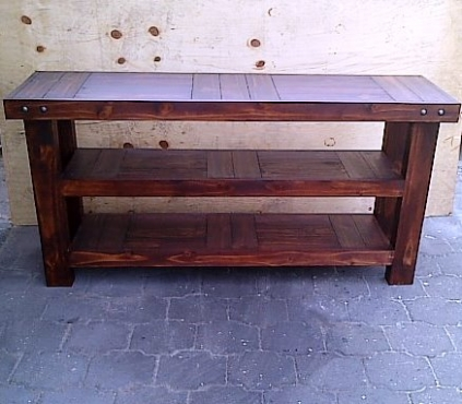 Food server Farmhouse series 1750 with extra shelf Stained