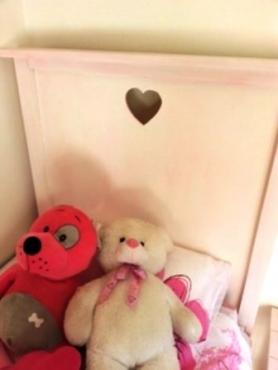 Girls headboard Pink wash