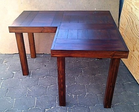 Study desk Farmhouse series 1300 L Shape Varnished