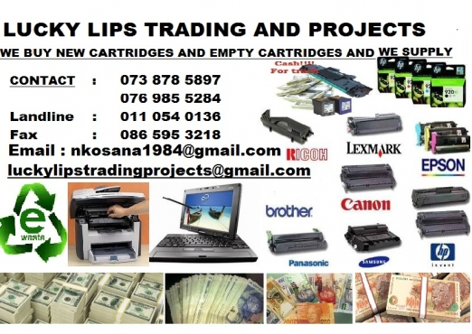 Recycle your empty cartridges and new cartridges we buy them