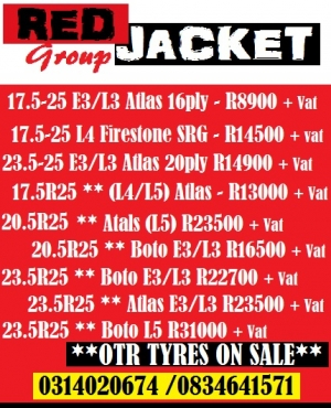11.00-20 FIRESTONE T423 TRUCK TYRE ALL POSITION @ R3916 + VAT // RED JACKET