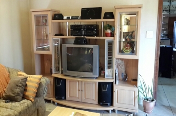 TV Cabinet with Display Cabinets and Coffee Table