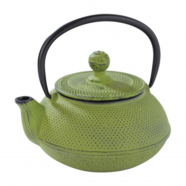 CAST IRON TEA POT GR