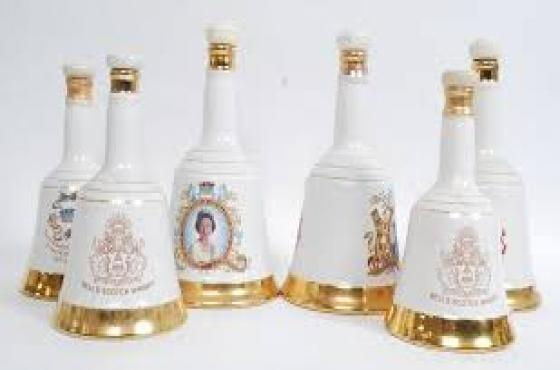 Porcelain Bells Whiskey Royal Family