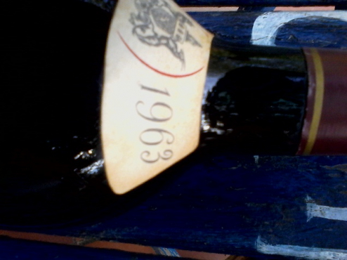 One bottle of Groot Constantia 1963, their first Shiraz