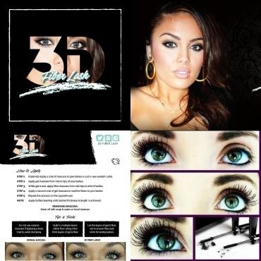 Younique 3d mascara, 2 lip tatoos and 1 sachet blackhead remover masque