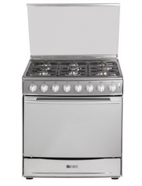 Zero 6 Burner Stainless Steel LP Gas Stove with Grill and Electronic Ignition LPGSASA Safe Appliance