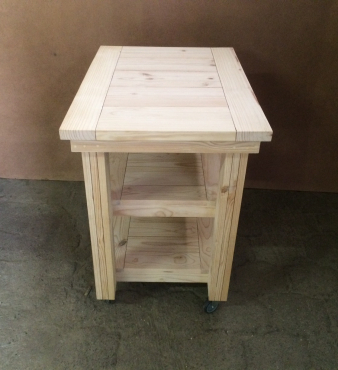 Kitchen Island Chunky Cottage series 950 Mobile Raw