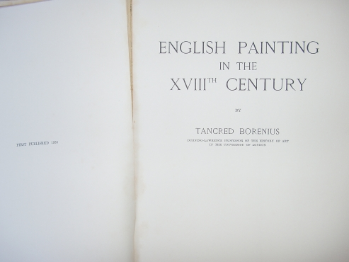 English Painting  By Tancred Borenius - 1938 - Eighteenth Century