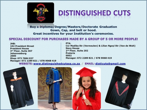 GRADUATION GOWNS, CAPS,BELTS GREATEST SPECIAL FOR SALE OR HIRE NEVER ...