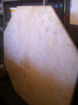 Solid marble white awnd beige dininphoto g room table top No legs (octagon shape) R1000