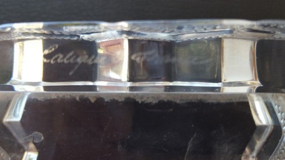 Lalique Crystal Ashtray. NOW ONLY R3500.00