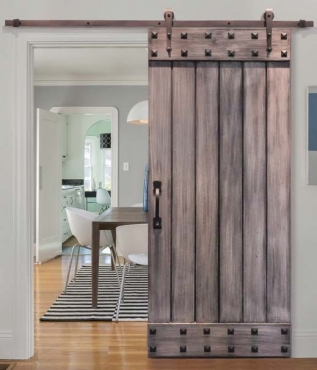 Customise a 'Barn Style' Sliding Door Using Decorative Resin Studs
