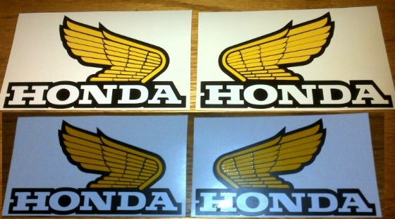 Honda tank wings all designs sizes and colours available