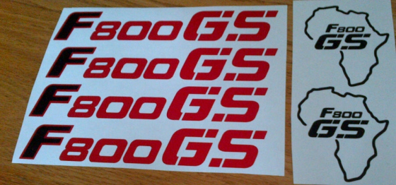 Pair of BMW F800GS decals as pictured