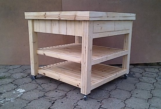 Kitchen Island Farmhouse series 1000 square with 4 x drawers