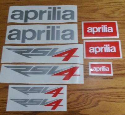 Aprilia RSV4 stickers decals graphics kit