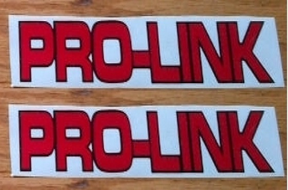 Pair of honda swingarm prolink decals stickers