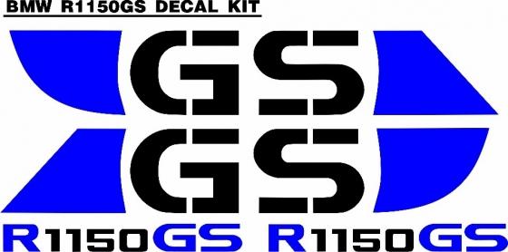 BMW R1150 GS decal sticker set red or blue