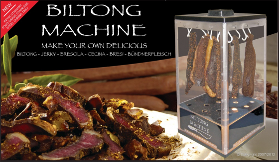 Biltong Dryer/Dehydrator. 5 kilogram capacity. National and Export.