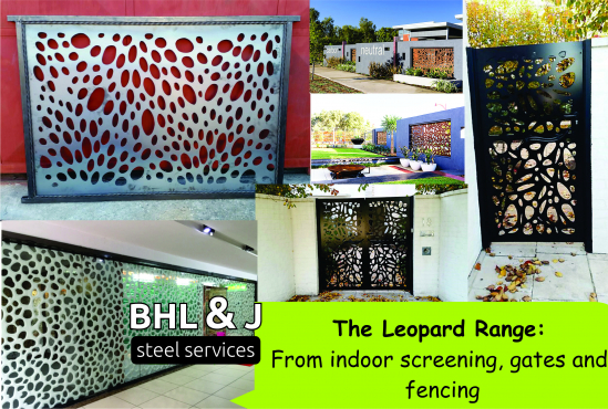 Leopard spot steel Panels