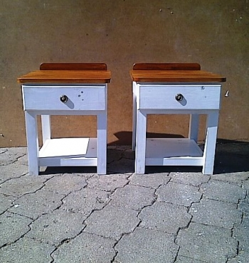 Night stand Cottage series 550 with 1 drawer Two tone