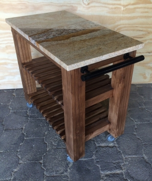 Kitchen Island Cottage Elegant series 1000 Stained