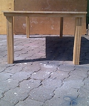 Patio table Cottage series 2400 Varnished