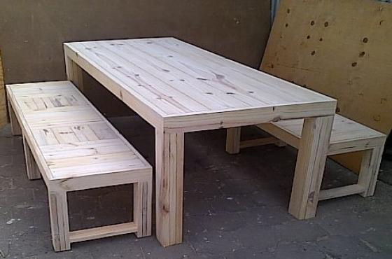 Patio table Chunky Farmhouse series 2200 Raw Combo 1