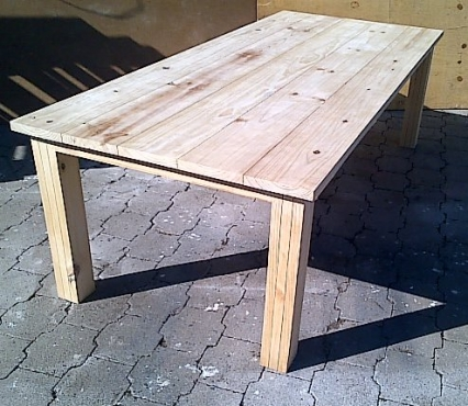 Patio table Chunky Cottage series 2500 Raw