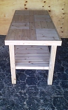Server Farmhouse series 1800 slatted shelf Raw