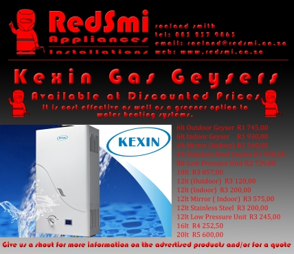 Kexin Gas Geysers at Discounted Prices