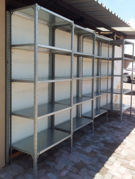 NEW BOLT AND NUT SHELVING - GALVANISED