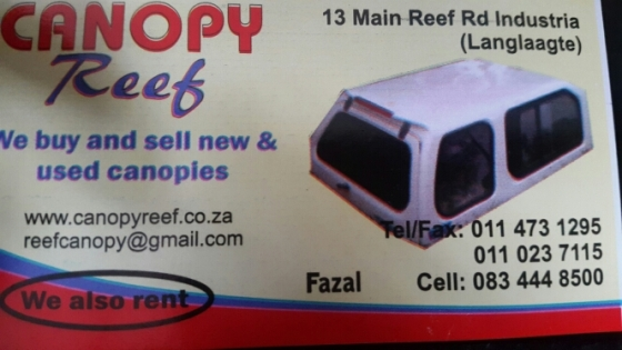 Canopy Reef : Any canopy for any bakkie ne