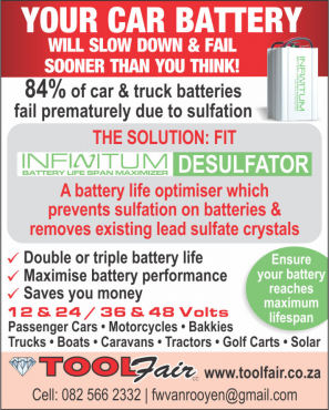 Battery Life Saver will desulfate and restore your battereies