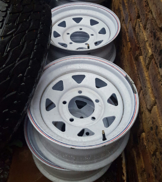 6 x 16 new 5 hole steel rims for sale