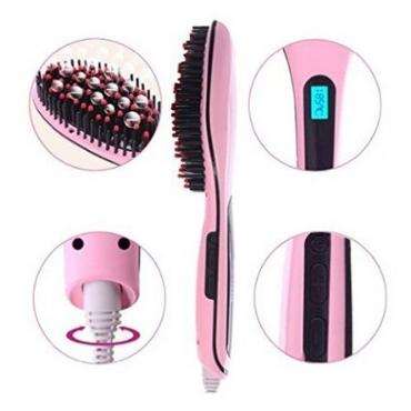 Hair Straightner Brush - Pink / White NEW!!  (R240.00 for 1) / (R210.00 for 2 or more..)