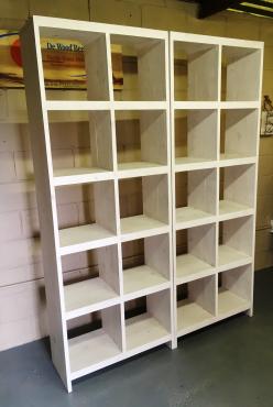 Bookshelf Cottage series 775 White washed
