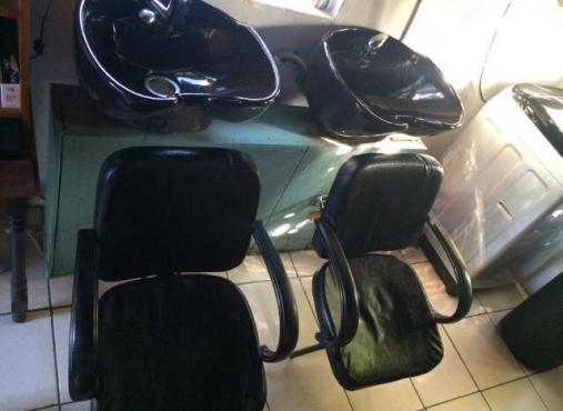salon basins and chairs for sale.