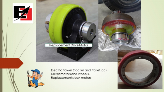 Stacker and pallet jack drive motor