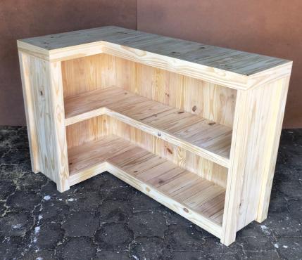 Reception Counter Farmhouse series 1500 L shape Slimline Raw