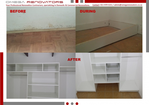 Omega Renovators - Full Renovations, Tiling, Painting, Bulkheads, Partition, Carpets – we do it all!