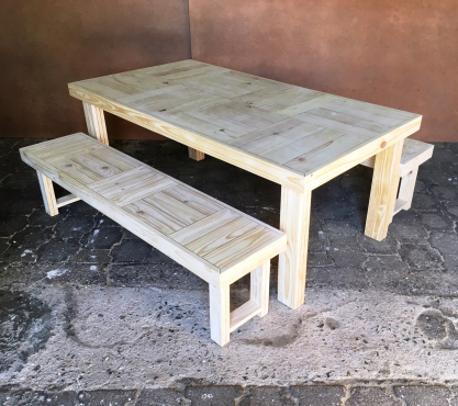 Patio table Farmhouse series 1870 Combo 1 Raw
