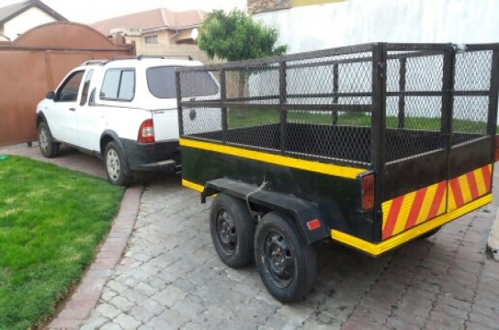 1.4 fiat strada and trailer 2.5x 1.5m with double axle