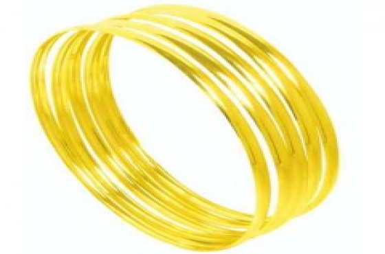 9CT GOLD 4MM C SHAPED BANGLES