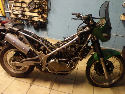 Kawasaki KLE 500 stripping for spares. Finance available on spares and repairs above R2000