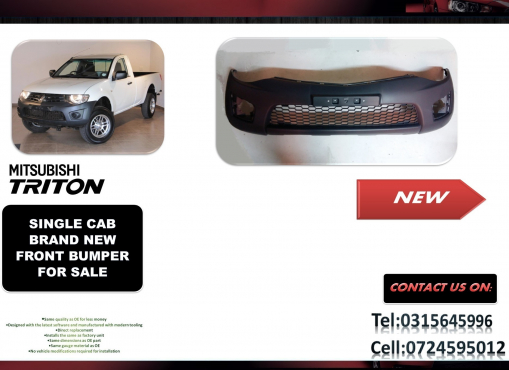 Mitsubishi Triton Single Cab Facelift New Front bumpers for sale price R1750